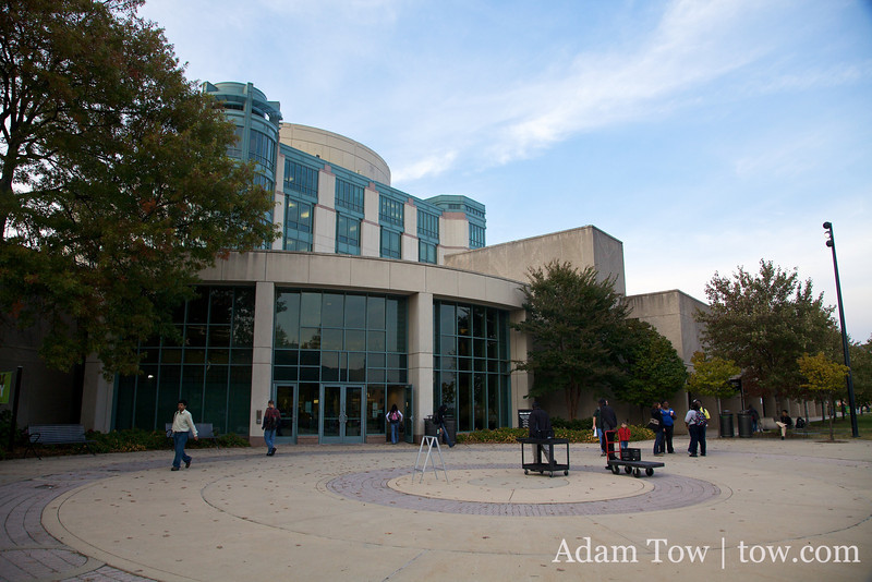 The library at the University of Maryland-Baltimore County where we held our screening of Autumn Gem.