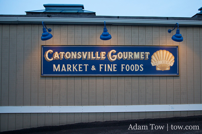 We ate dinner at the Catonsville Gourmet restaurant.