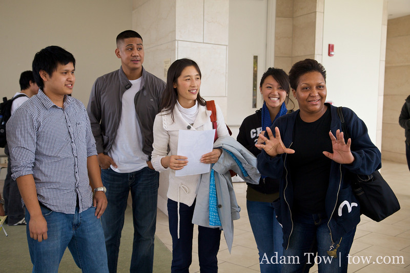 UMass students express their thoughts after learning some basic wushu and tai-chi moves.