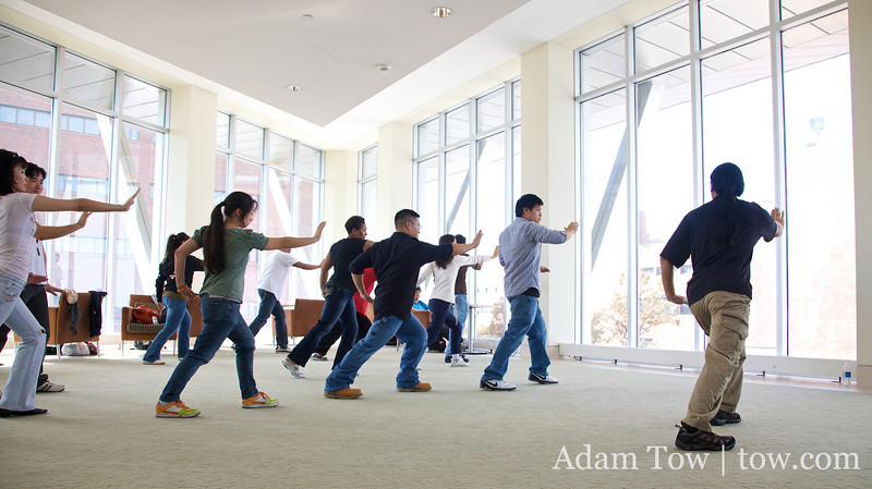 Tai-Chi inside the UMass, Boston Campus Center.