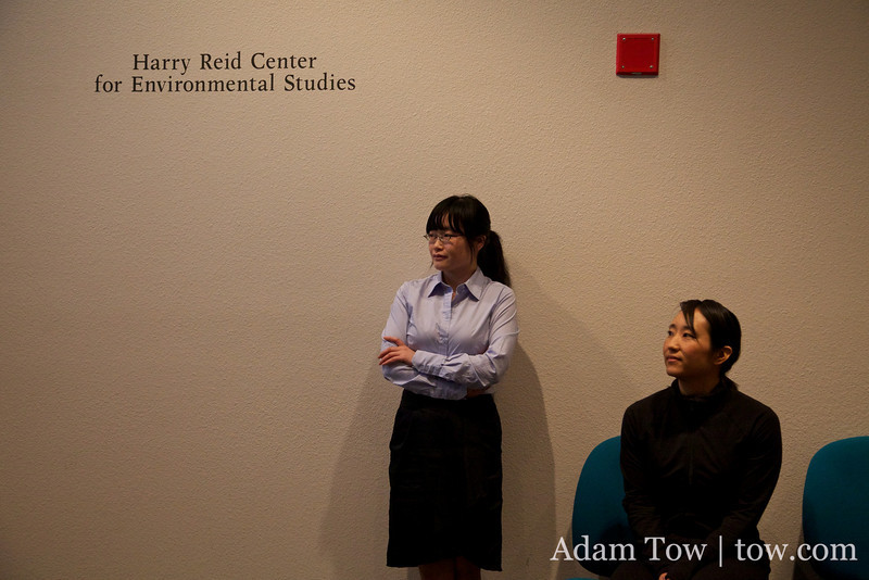 The screening was held at the Marjorie Barrick Natural History Museum and the Harry Reid Center for Environmental Studies.