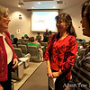 Cynthia talks with Maggie and Mindy before the screening.