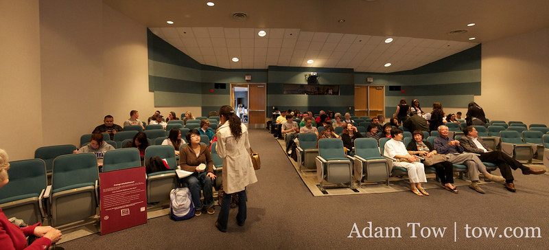 Panorama of the room before the Autumn Gem screening at UNLV.