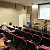Rae gives her presentation before the screening of Autumn Gem at the University of New South Wales.