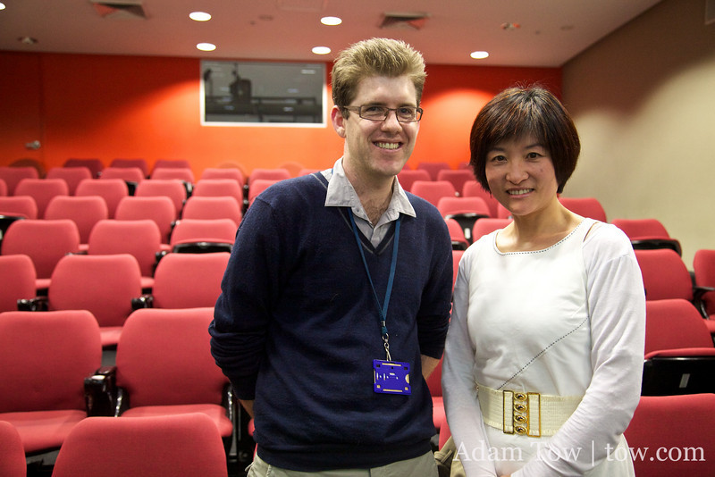 Duncan and Professor Haiqing Yu.