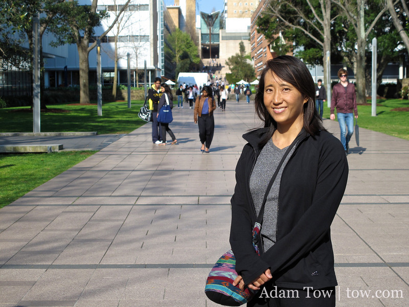 Rae at the University of New South Wales. The Asian population in Sydney is around 30%.