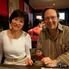 Haiqing and Jon at the after-screening dinner at Ten.