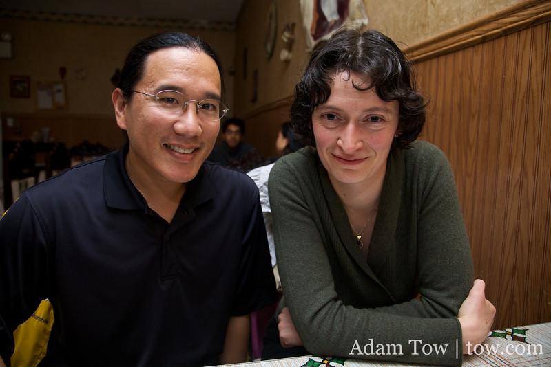 Adam and Andreea, former Theme Associates at La Maison Française at Stanford, together again!