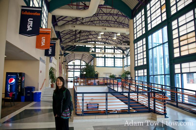 Inside the University Center at UTSA.
