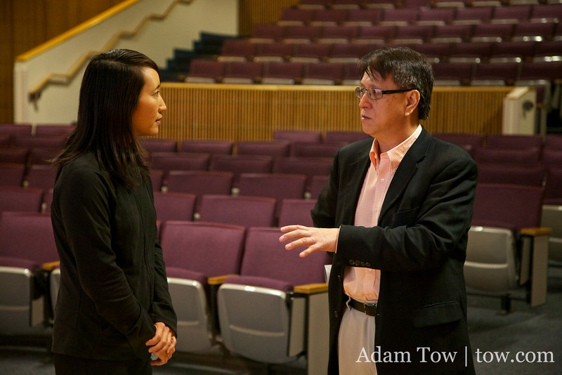 Rae talks with Dr. Don Lien, Director of the East Asia Institute at UTSA.