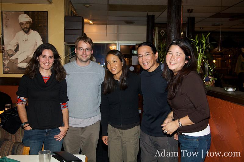 Dinner at Kabul with Erika, David and Tanya.
