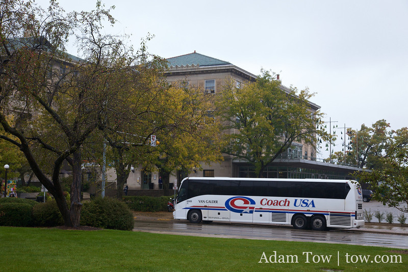 We'll be taking a Coach USA bus to Chicago on Thursday morning.