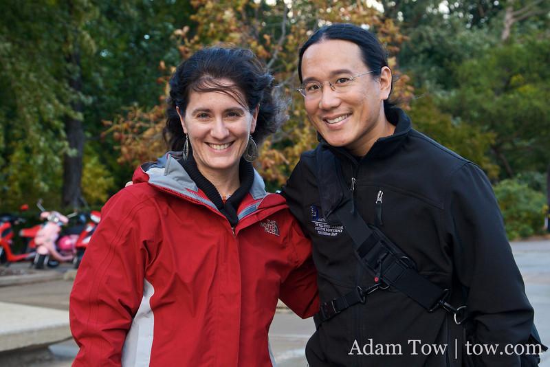 Adam and Erika, former classmates at the Farm.