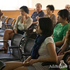 Students listen during the presentation before the screening.