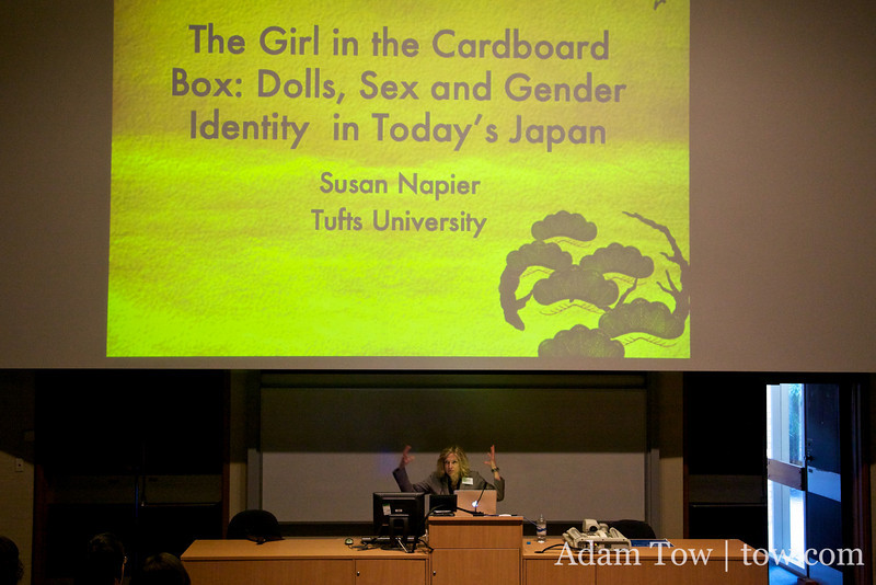 Susan Napier of Tufts University gives the keynote at the Women in Asia Conference in Canberra, Australia.