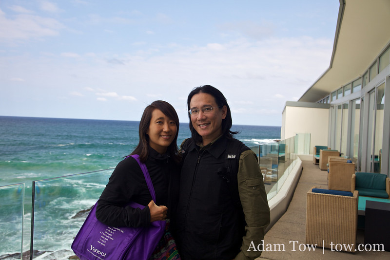 Adam and Rae at Bondi Icebergs.