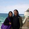 Adam and Rae at Bondi Icebergs.