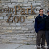 Steve and Adam at the entrance to the Lincoln Park Zoo.