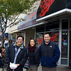 Jeff, Rae and Steve outside The Bagel in Chicago.