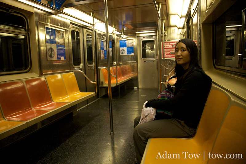 There was no one in this subway train.