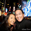 Adam and Rae in Times Square.