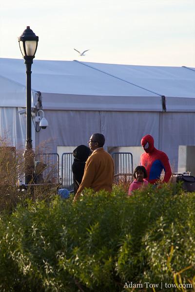 Spider-Man in New York.