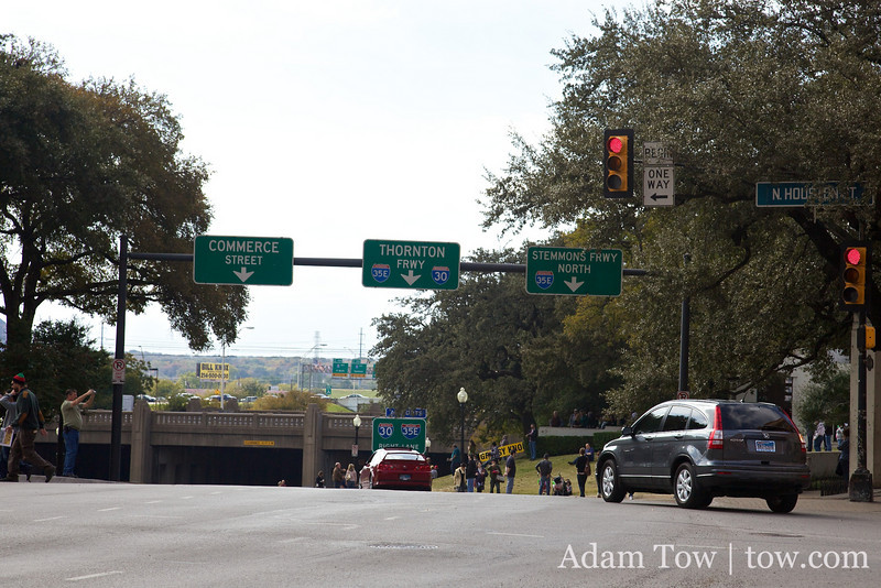 It looks like any other street, except for the fact that 47 years ago, it was the site where JFK was assassinated.