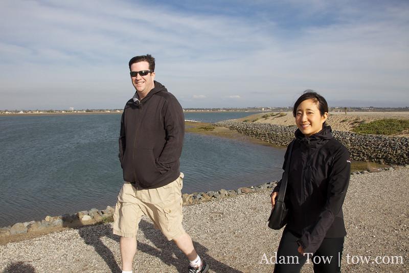 We walked around the wetlands near Huntington Beach.