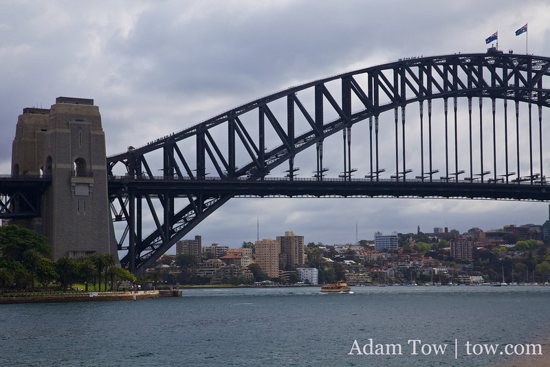 We might walk up the Harbor Bridge when we return to Sydney next week.