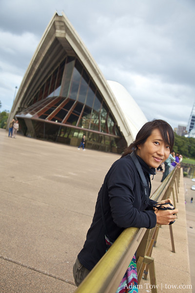 Rae at the Opera House.