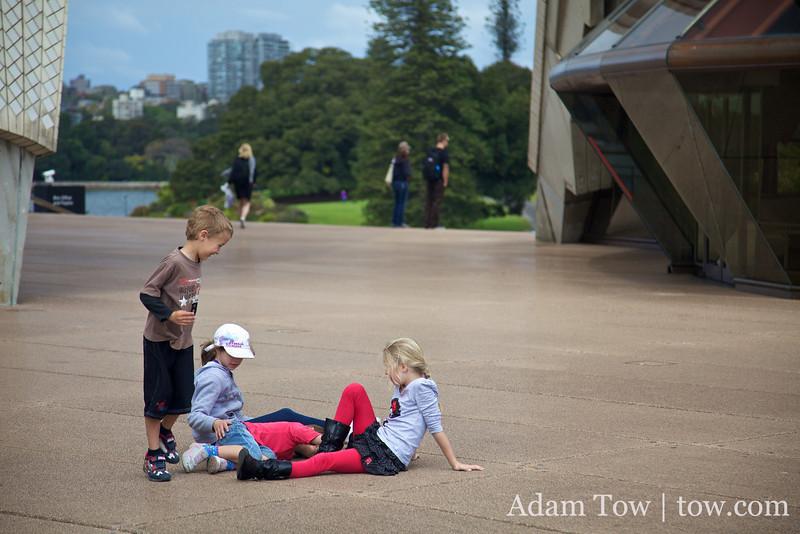 Playing around at the Opera House.