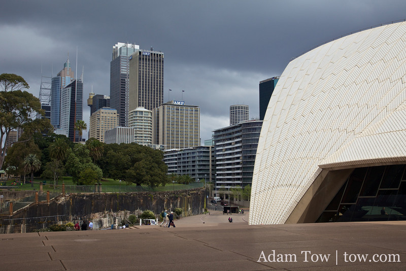 Overcast day with patchy sunshine in Sydney.