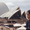 Rae outside the Sydney Opera House.