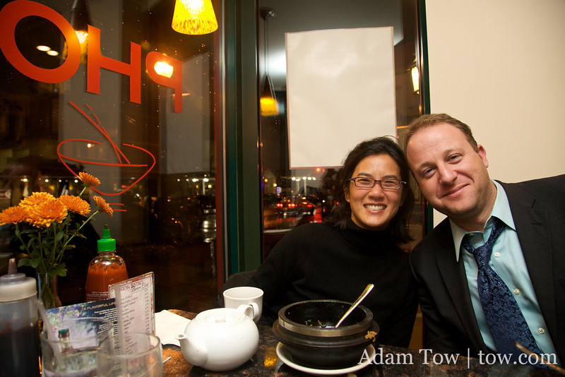 Alisa and Jared at Saigon Bistro in Washington D.C.
