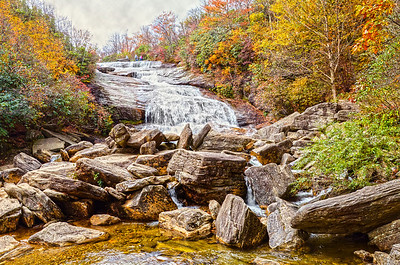 Graveyard Fields Lower Waterfall in hdr