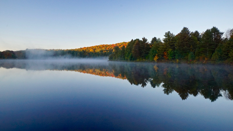 First Sunlight on Colby Pond