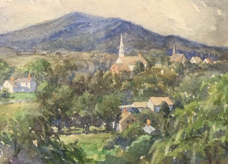 Francestown Improvement & Historical Society. September 9, 2015.  Painting of the village.