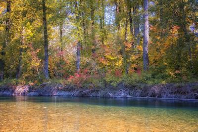 Fall Color Along Yakima River Near Easton WA 9-27-18