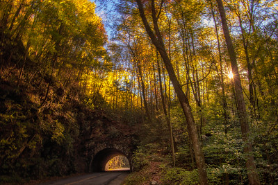Light at the End of the Tunnel Fall Great Smoky Mountains