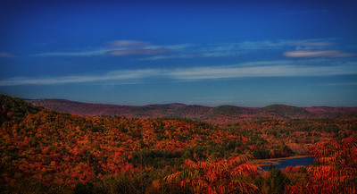 Fall mountains from rest stop Hwy 89 near Lebanon NH 10-12-15