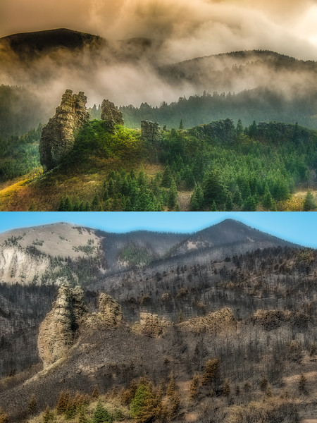 Autumn Rock - Before and After