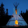 Dusk at the Tipi