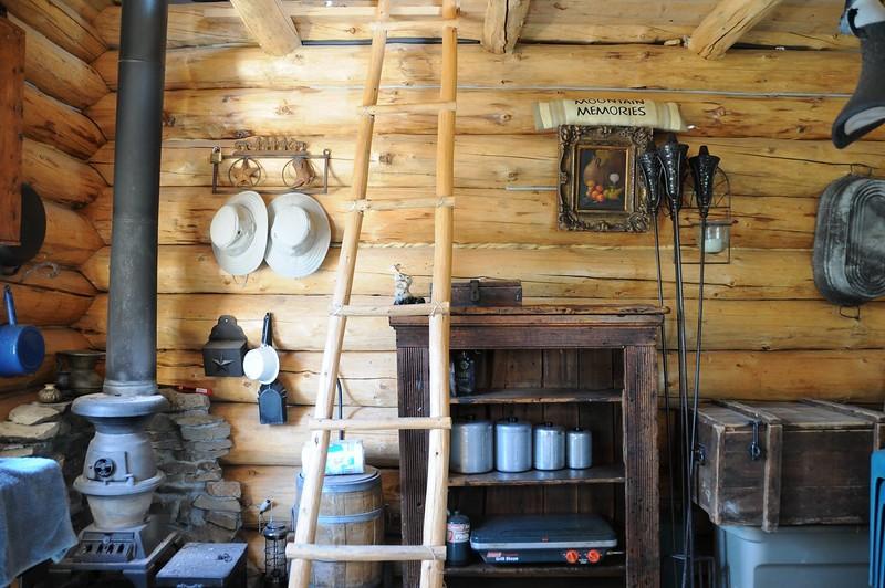 Inside the Bertie Marie cabin - 120 sq. ft.