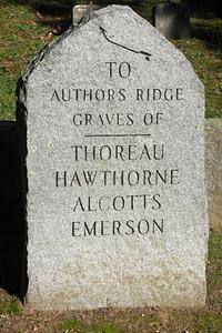 Sleepy Hollow Cemetery, Concord, Massachusetts Author's Ridge