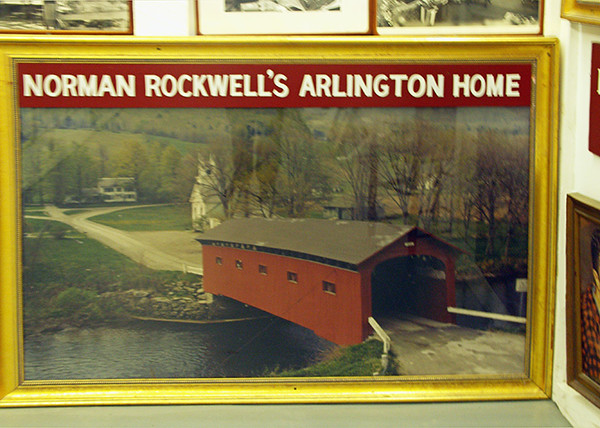 Norman Rockwell Exhibit in a country store near Arlington, Vermont