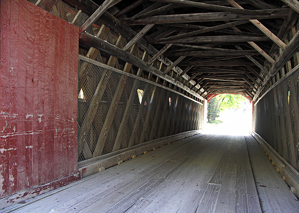 One of several covered bridges in Arlington