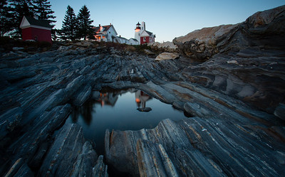 Sunset at Pemaquid Point Lighthouse - Coastal Maine - Andrew Ehrlich - October 2013