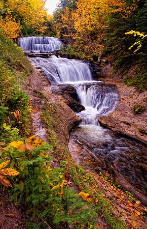 Sable Falls at Grand Marais, MI  -  October, 2009