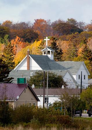 Autumn Rooftops in Naubinway, MI