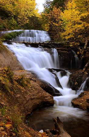 Sable Falls in Autumn Colors - Grand Marais, Michigan